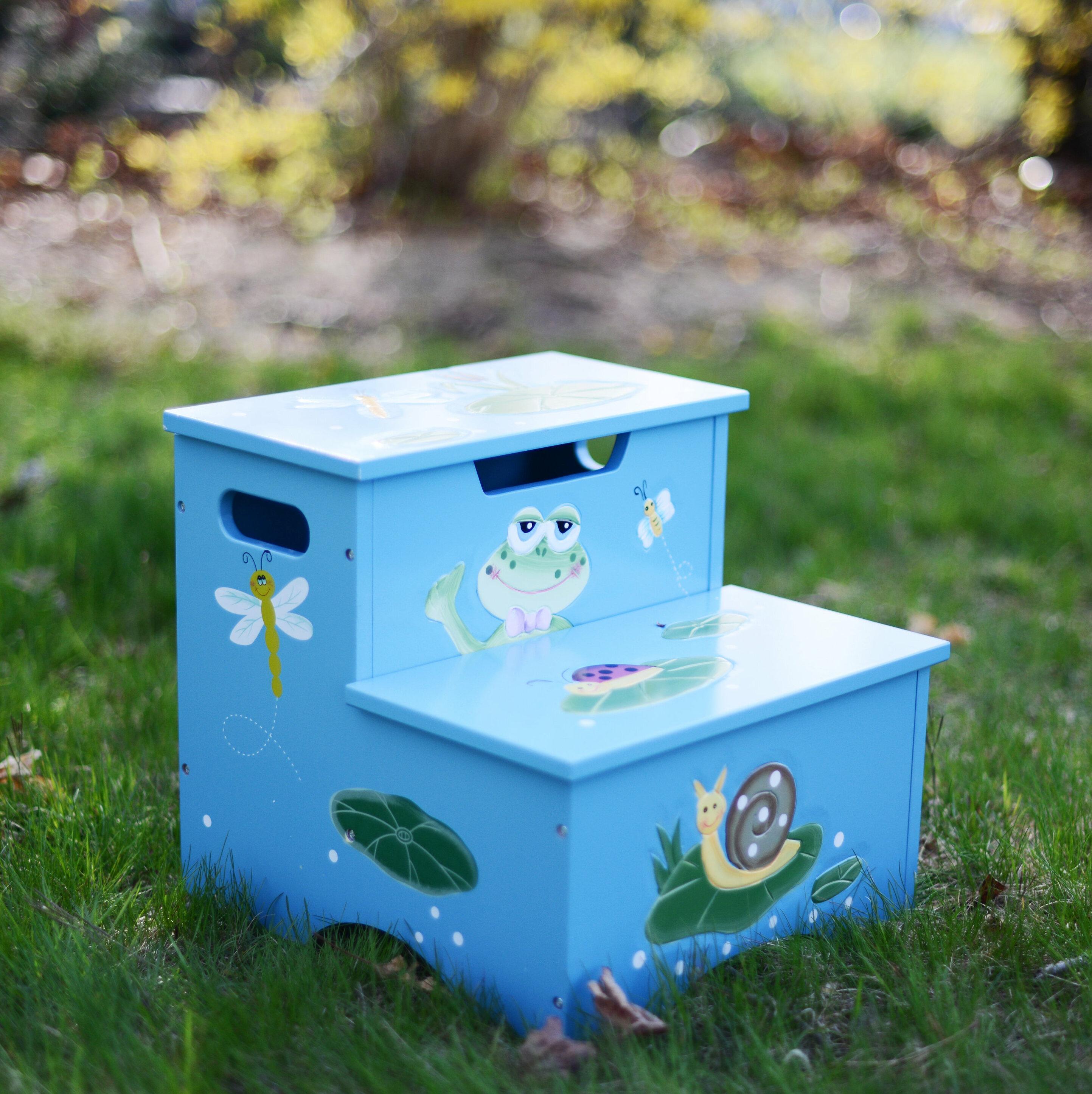 Fantasy Fields Froggy Step Stool with Storage | Wayfair
