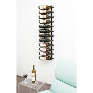 24 Bottle Metal Wall Mounted Wine Rack