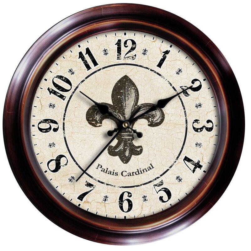 18 Fleur De Lis Wall Clock
