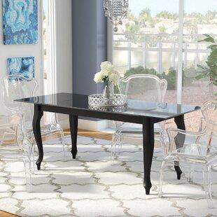 Alena Retro Glass Top Dining Table