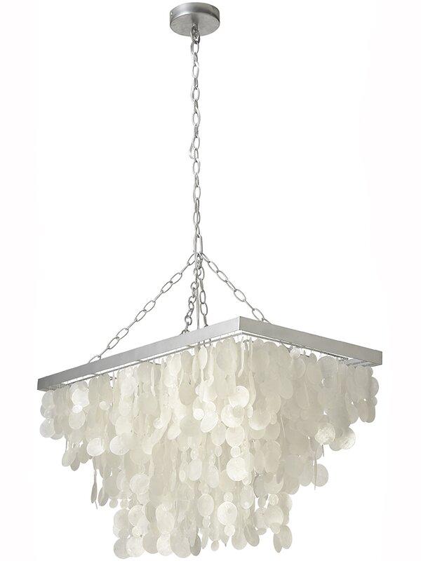 3 Light Rain Drop Capiz Pendant Lamp