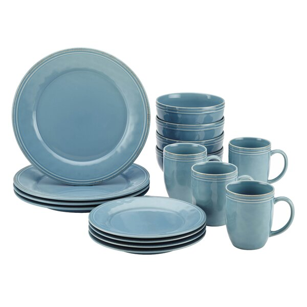 Rachael Ray Cucina 16 Piece Dinnerware Set Service for 4 u0026 Reviews | Wayfair  sc 1 st  Wayfair & Rachael Ray Cucina 16 Piece Dinnerware Set Service for 4 u0026 Reviews ...