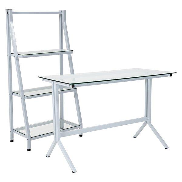 White Desk With Bookcase