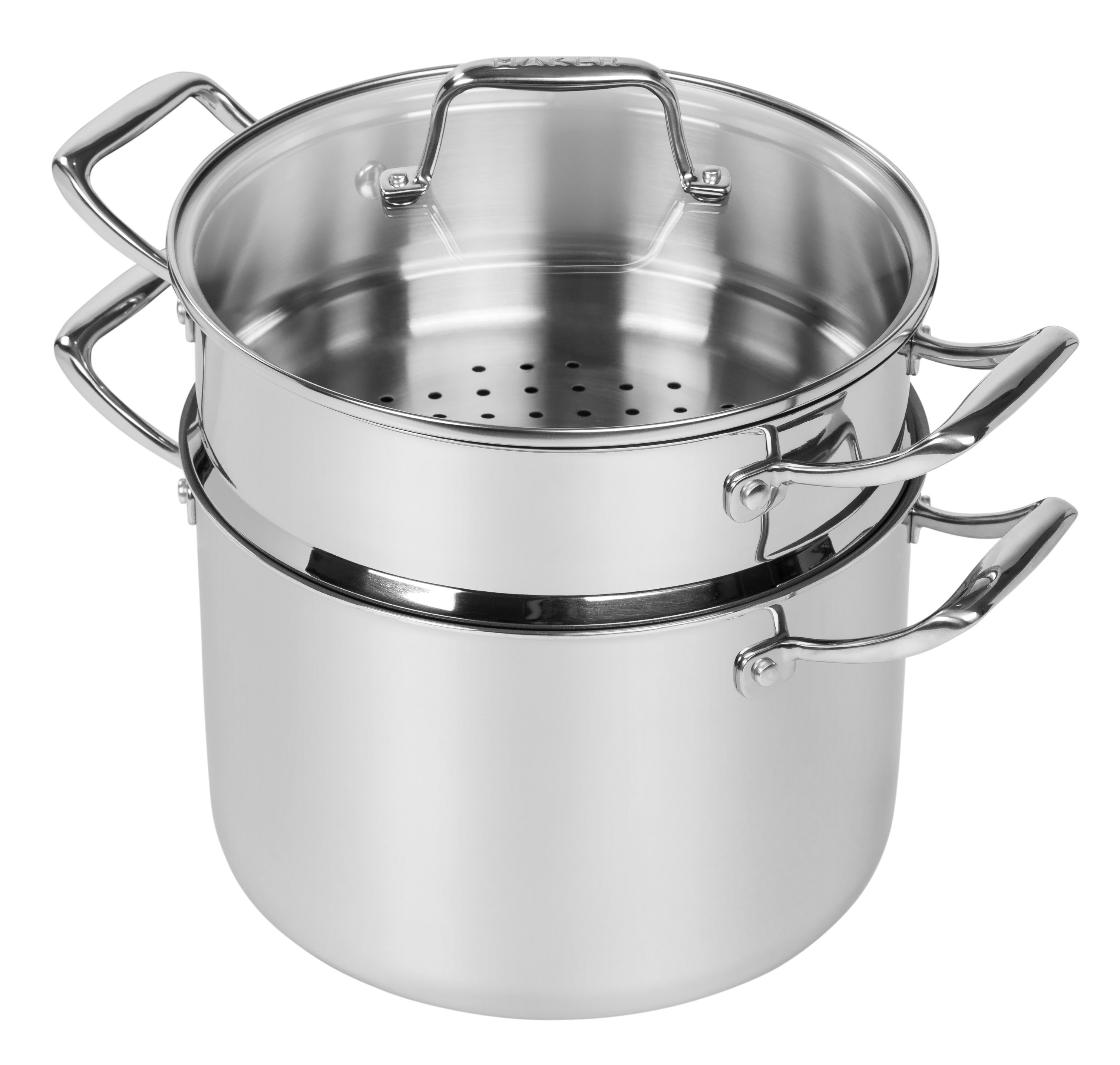 MAKER Homeware 8 Qt Stock Pot With Steamer Insert And Lid Reviews