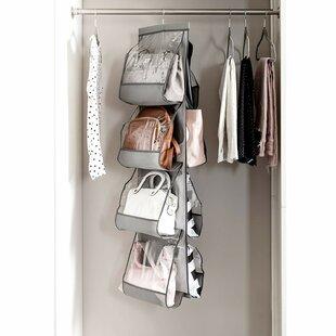 b965f323270e Purse for Closet Handbag Pockets Hanging Organizer with 360 Swivel Hook