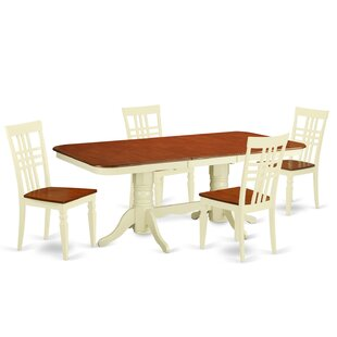 Beesley 5 Piece Rectangular Wood Dining Set