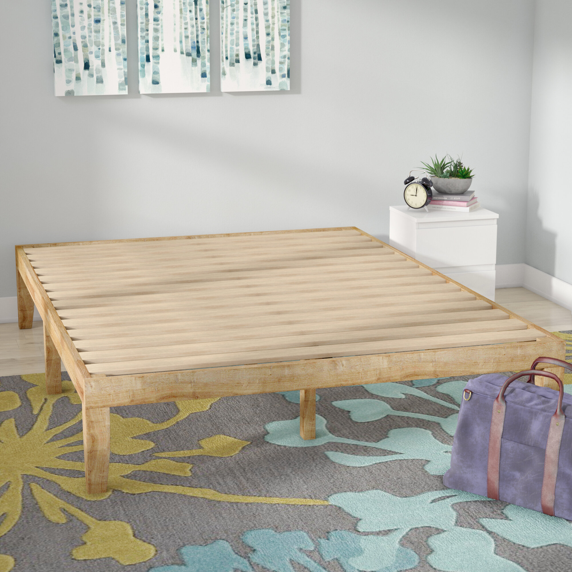 Solid Base Platform Bed