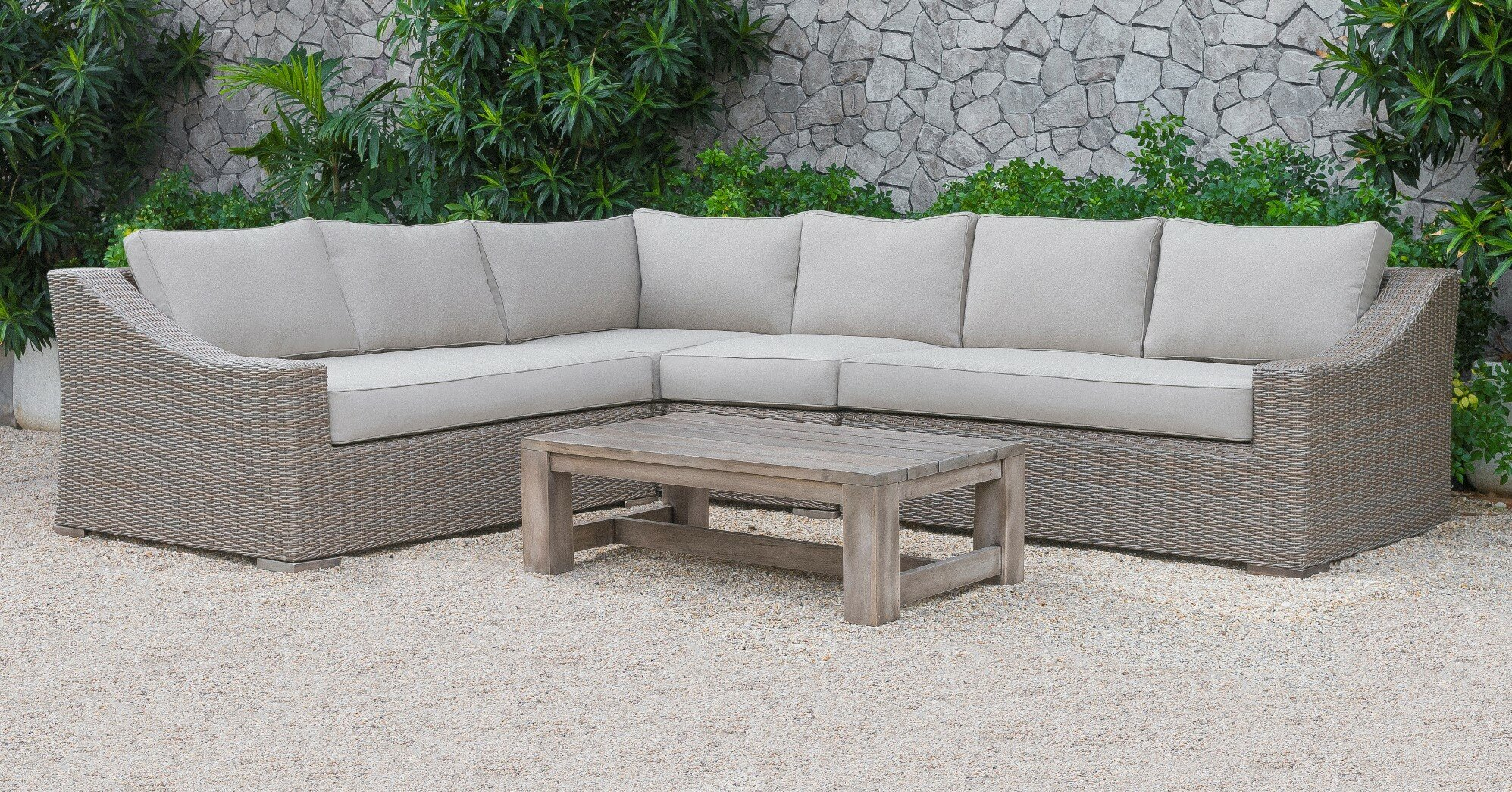 Gracie Oaks Abbot 5 Piece Sectional Set with Cushions & Reviews ...