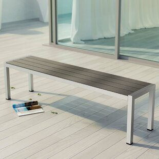Outdoor table and bench wayfair coline outdoor patio metal bench watchthetrailerfo