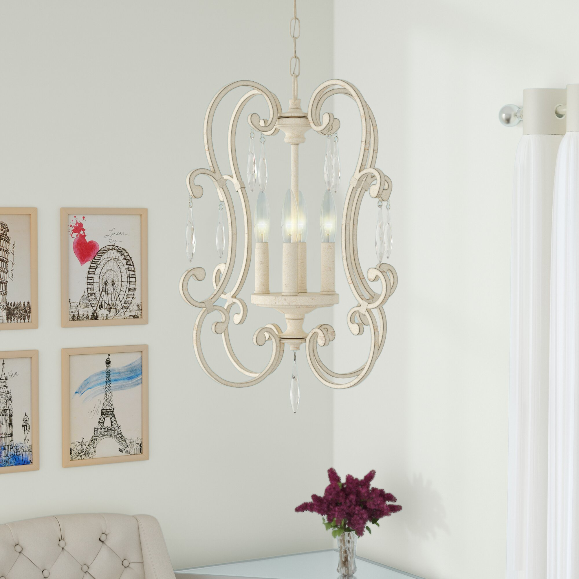 House Of Hampton Oriana 4 Light Candle Style Chandelier & Reviews -