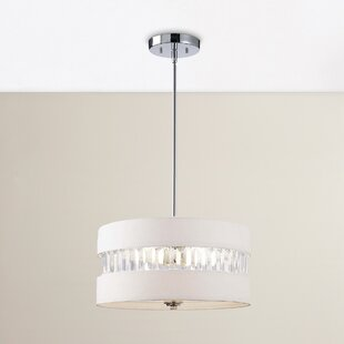 ethelinde 3 light drum chandelier - Bedroom Chandelier