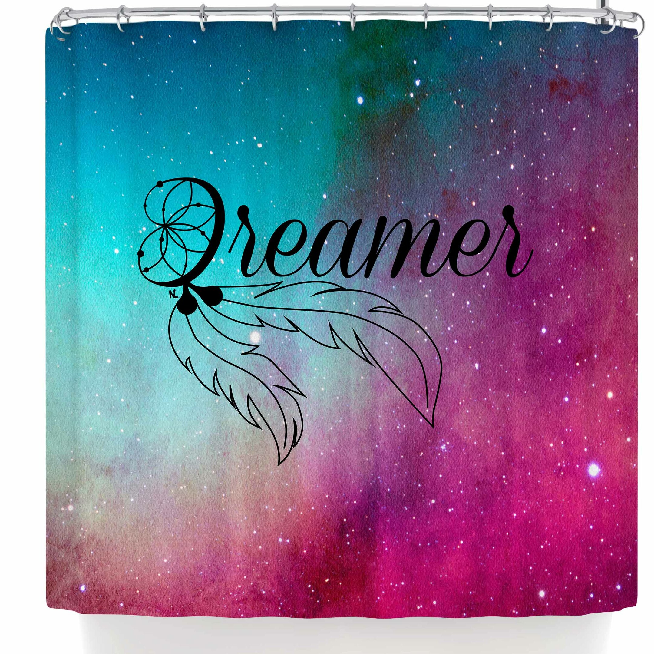 East Urban Home Nl Designs Dream Catcher Galaxy Single Shower Curtain