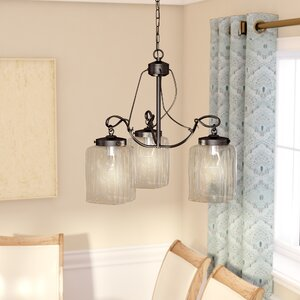 Joann 3-Light Shaded Chandelier