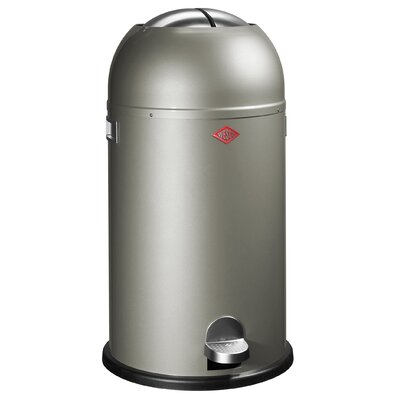 Wesco Kickmaster 7.5 Gallon Step On Trash Can Color: New Silver