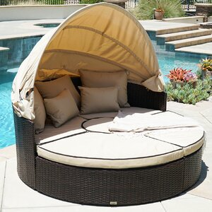5-Piece Outdoor Daybed Set with Cushions