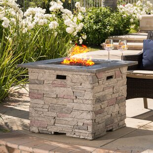Elegant Stafford Stone Propane Fire Pit Table