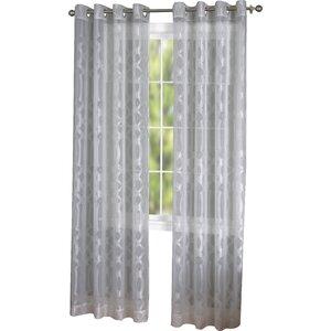Hanoverton Geometric Sheer Grommet Single Curtain Panel