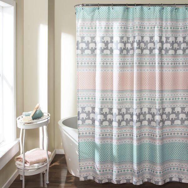 Viv   Rae Edward Shower Curtain   Reviews   Wayfair. Brown And Turquoise Shower Curtain. Home Design Ideas