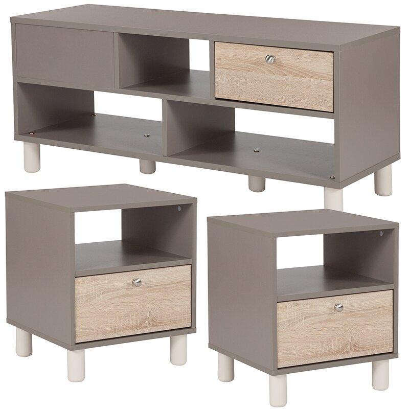 Ebern Designs Oz 3 Piece Coffee Table Set | Wayfair