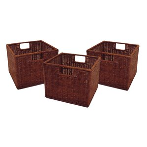 Murphysboro Wicker Storage Basket (Set Of 3)