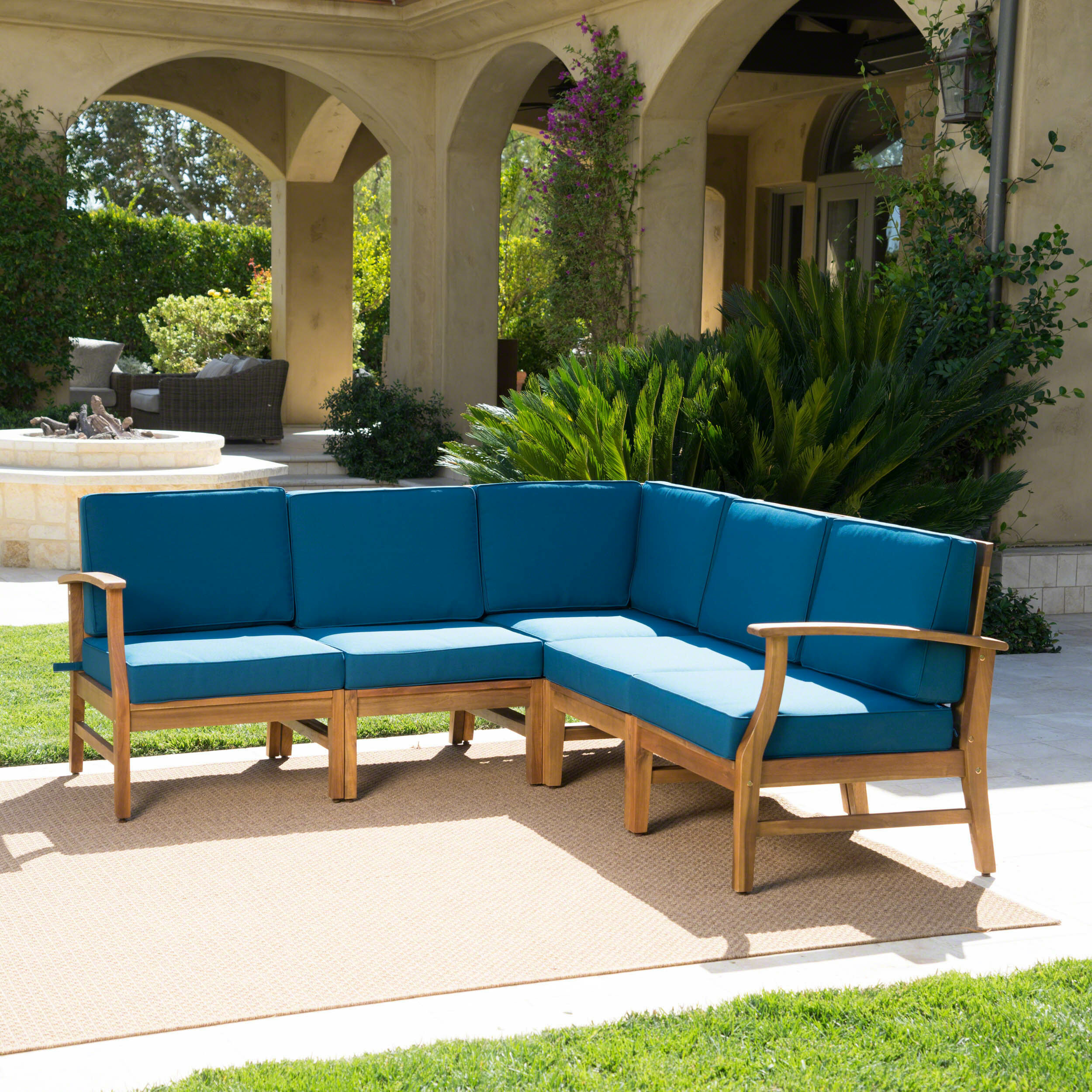 Foundry Select Brimmer Patio Sectional With Cushions | Wayfair