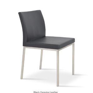 Aria Parsons Chair in Genuine Leather - Black by sohoConcept