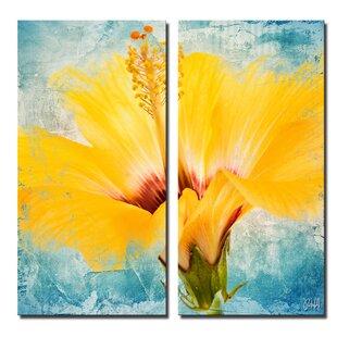 Painted Petals Xvii 2 Piece Painting Print On Canvas Set