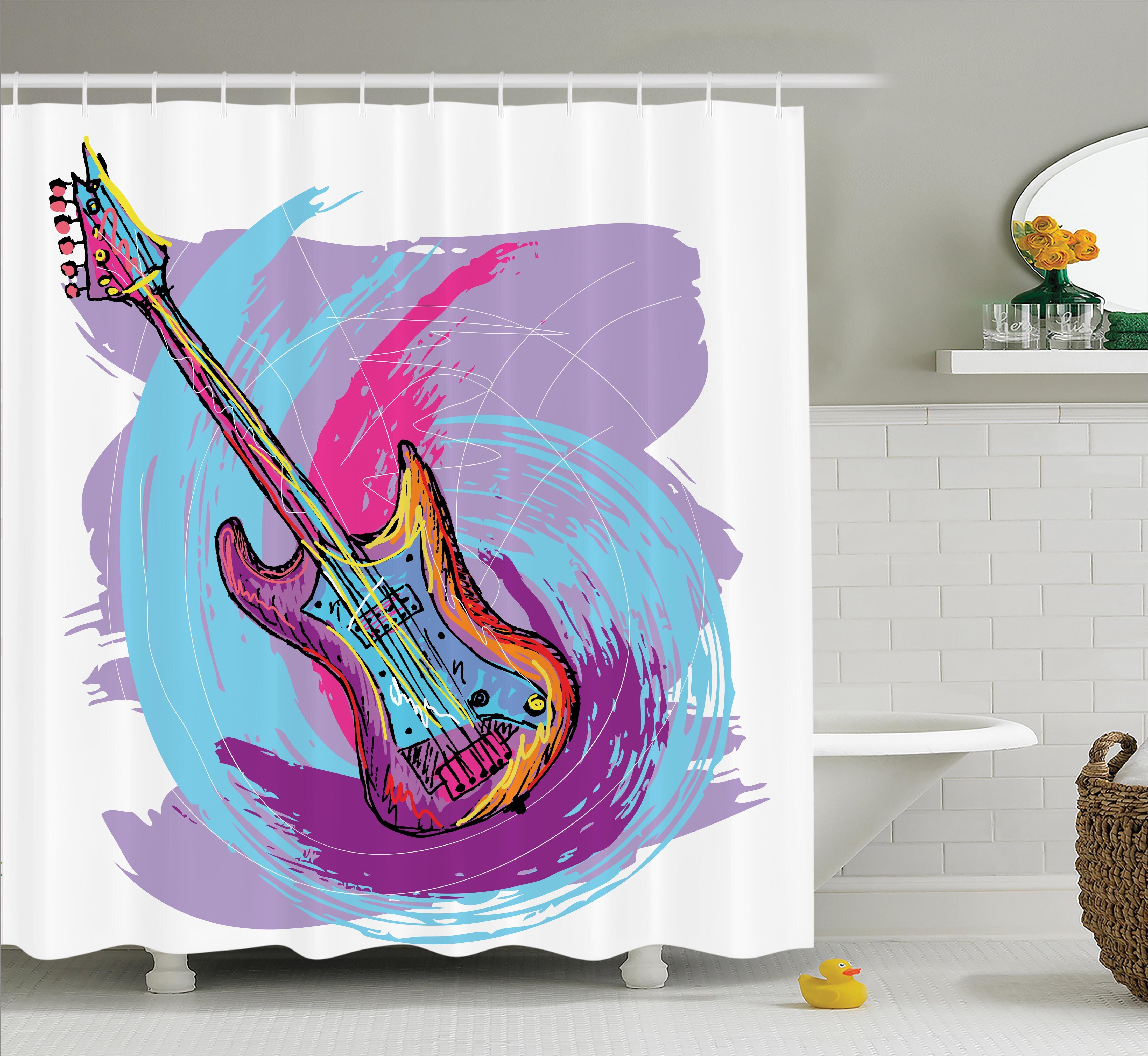 East Urban Home Modern Electric Guitar Decor Shower Curtain Wayfair
