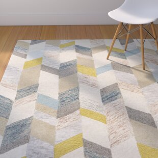Dimat Hand Tufted Gray Gold Area Rug