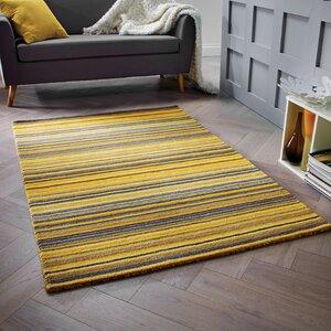 Nar Hand Woven Wool Yellow Rug