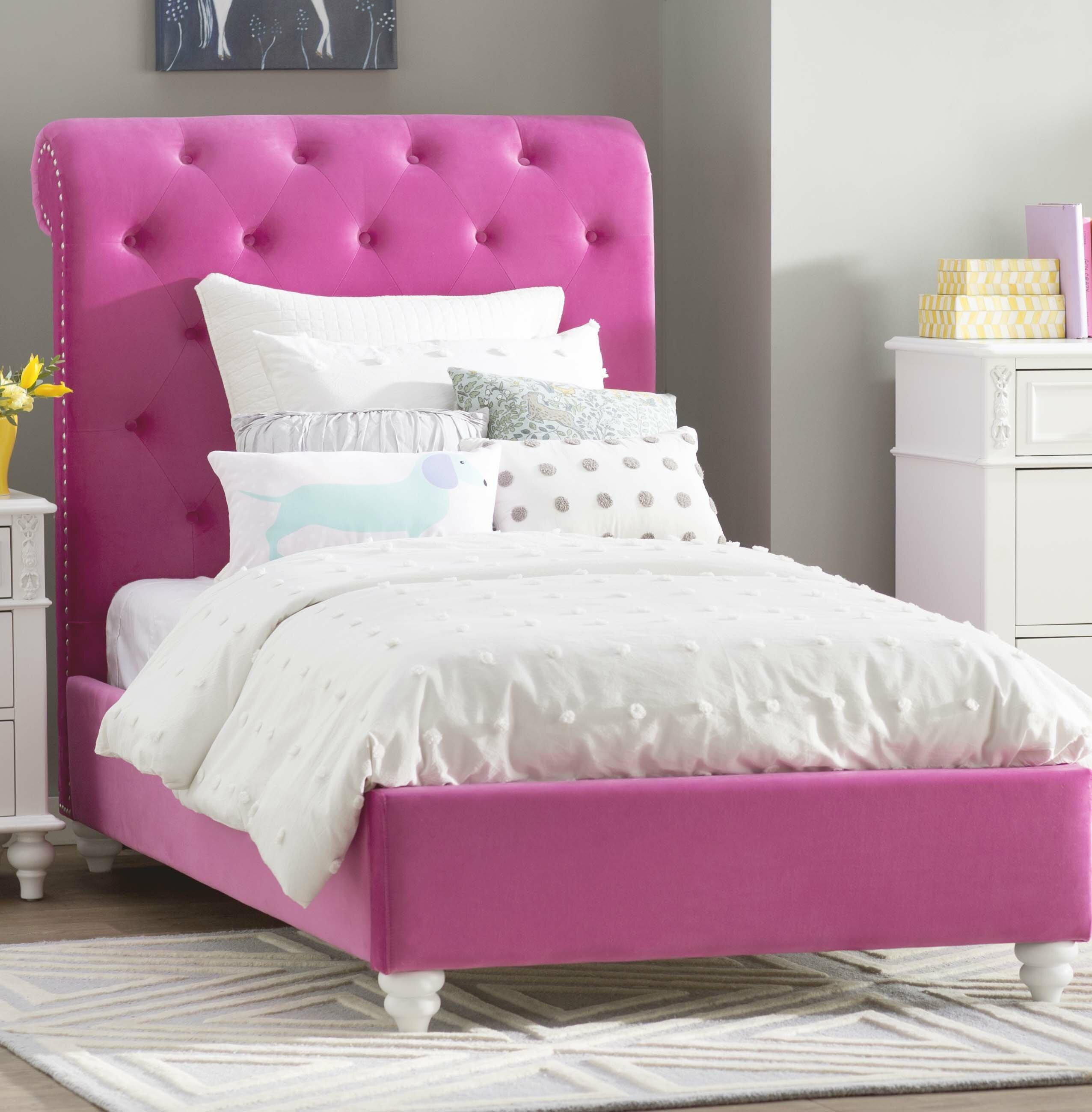 Viv Rae Dena Upholstered Platform Bed Reviews Wayfair
