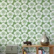 Aimee Wilder Designs Analog 15' x 28 Floral Wallpaper (Set of 2) Color: Leaf