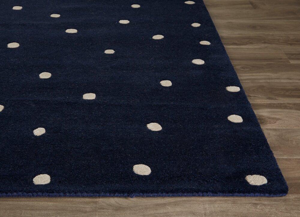 kate spade new york gramercy scatter dot hand tufted navy white area rug reviews perigold. Black Bedroom Furniture Sets. Home Design Ideas