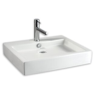 Studio Ceramic Rectangular Vessel Bathroom Sink With Overflow