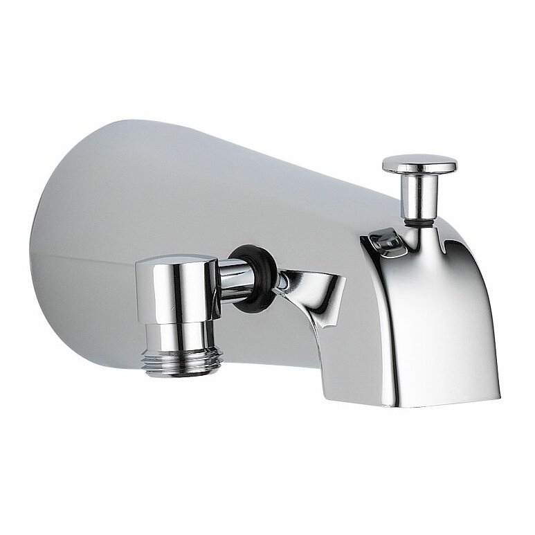 Delta Wall Mount Tub Spout Trim With Diverter  Reviews Wayfair - Wall mount bathtub faucet with diverter