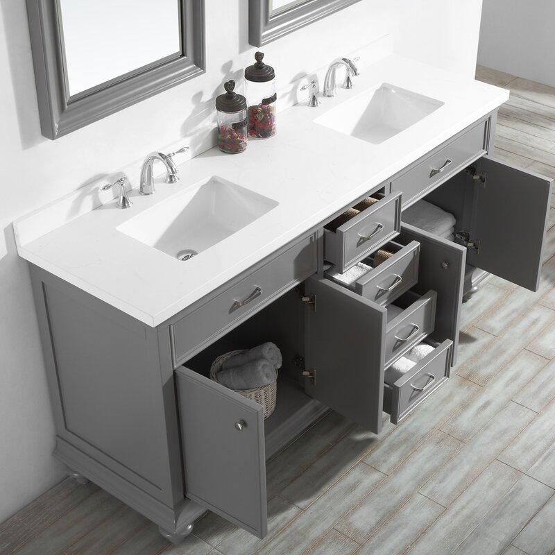 "Weisner 72"" Bathroom Vanity Set with Mirror"