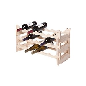 18 Bottle Floor Wine Bottle Rack by Symple Stuff