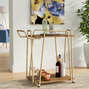Rutz 2 Tier Hairpin Bar Cart