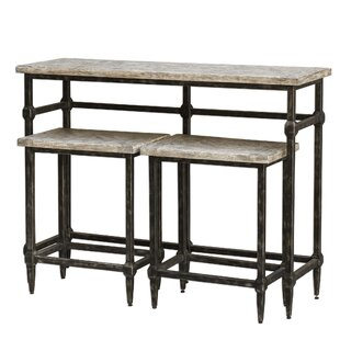 Elaina Bistro 3 Piece Pub Table Set