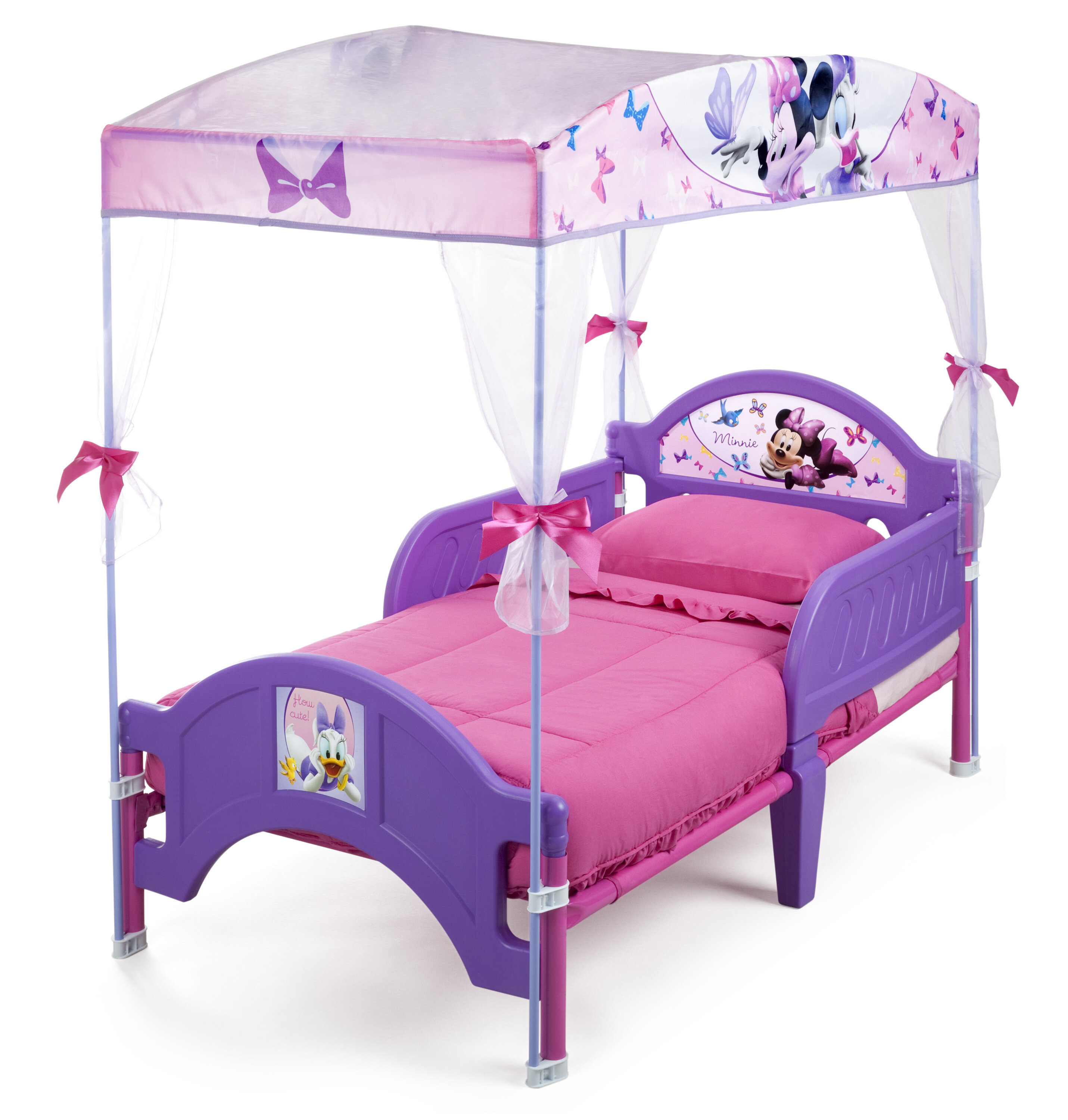 Delta Children Disney Minnie Mouse Bow Tique Convertible Toddler Bed