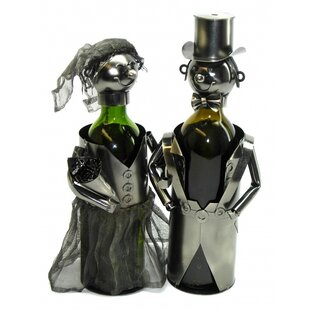 Bride and Groom 2 Bottle Tabletop Wine Rack