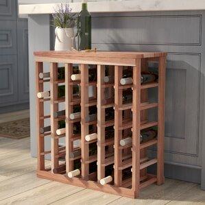 karnes redwood table top 36 bottle floor wine rack