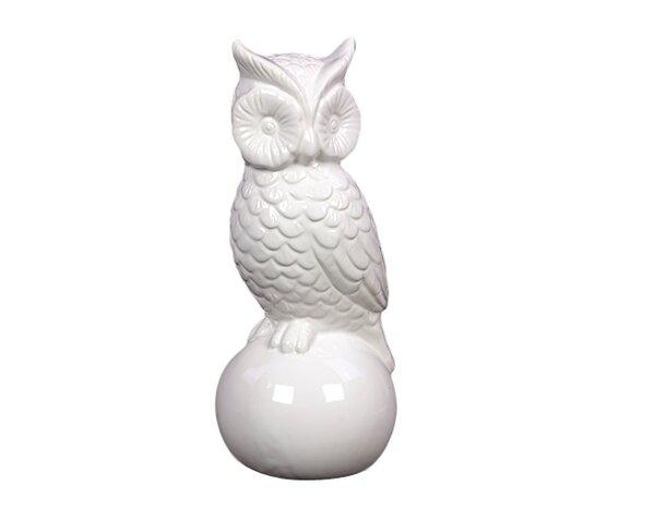 Urban Trends Ceramic Owl Gloss White Wayfair