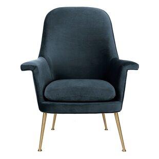Genial Teal Velvet Armchair | Wayfair