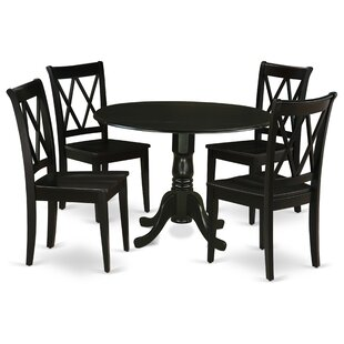 Porter 5 Piece Drop Leaf Solid Wood Breakfast Nook Dining Set