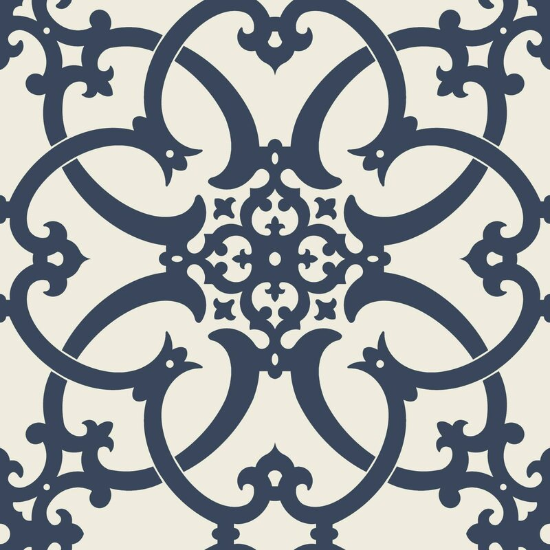 "Legacy Antiquity 33' L x 20.5"" W Damask Wallpaper Roll"