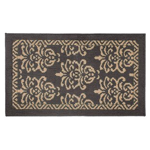 Bayonne Machine Woven Dark Gray/Linen Area Rug