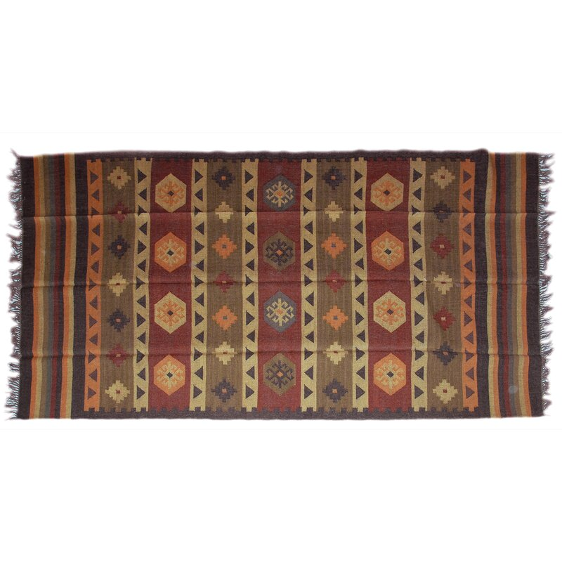 Isabelline One Of A Kind Fitzgerald Handmade Kilim 6 X 9 Red Green