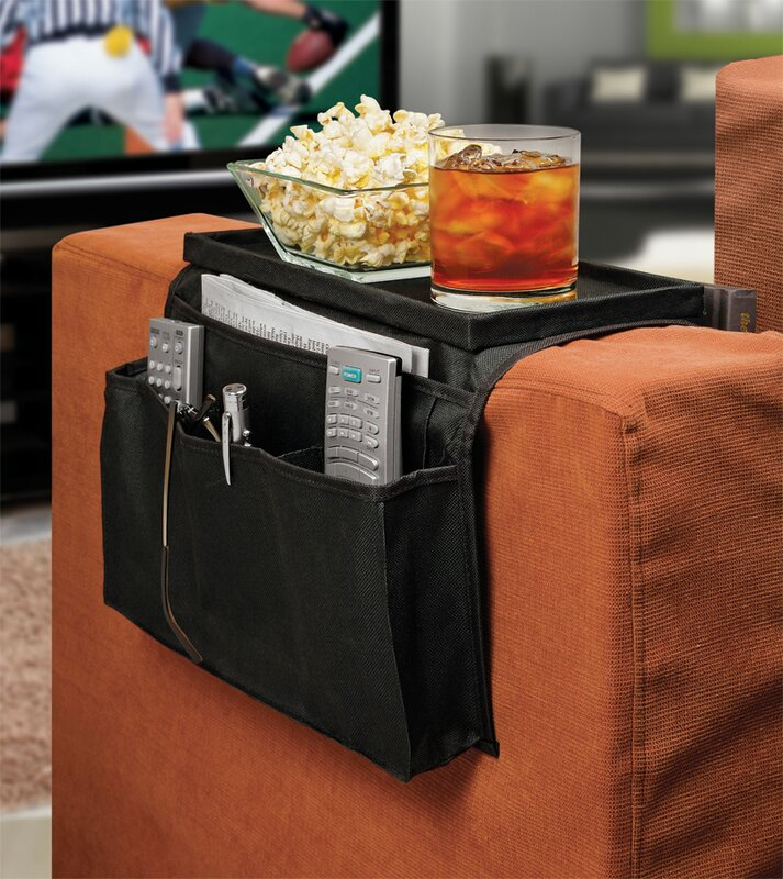 Ideas In Motion 6 Pocket Sofa Couch Arm Rest Organizer with Table ...