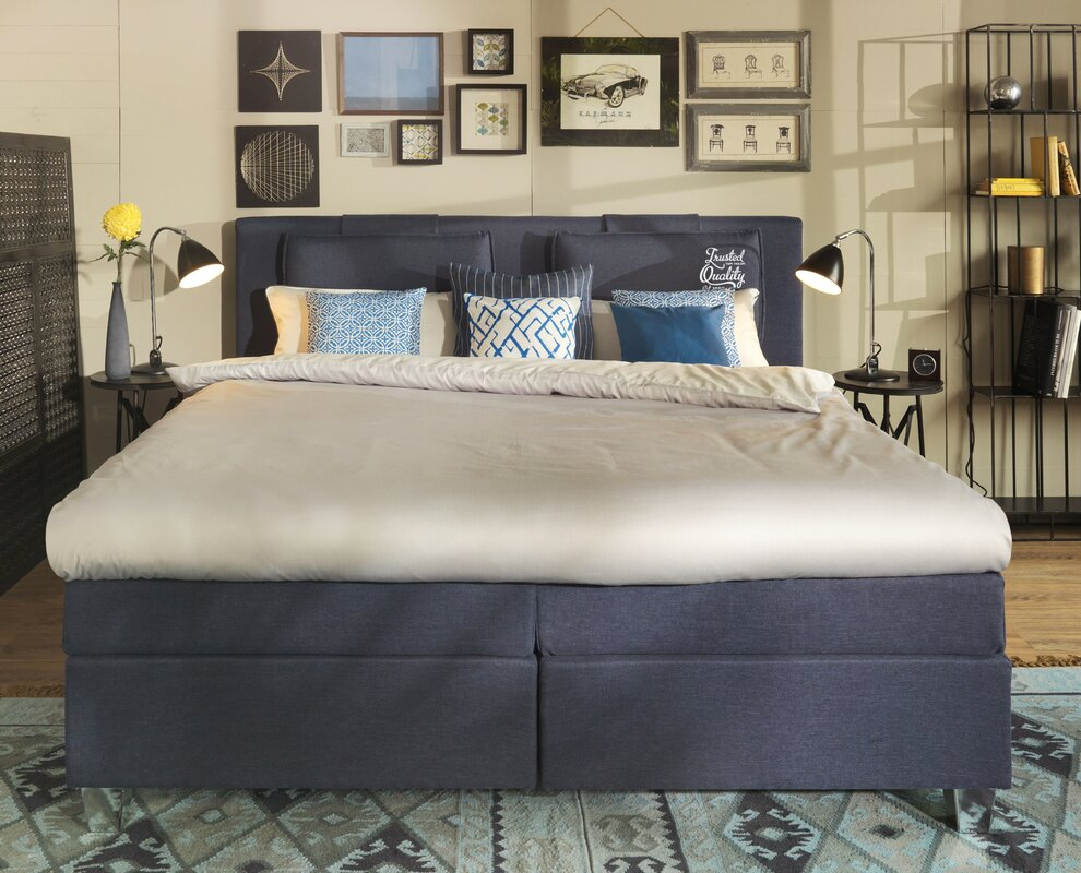 tom tailor boxspringbett heaven box mit print und topper bewertungen. Black Bedroom Furniture Sets. Home Design Ideas